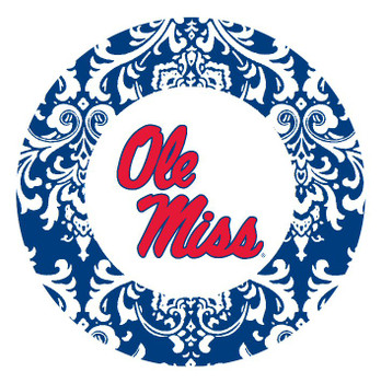 Mississippi Rebels Pattern Absorbent Beverage Coasters, Set of 8