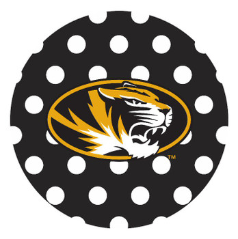 Missouri Tigers Dots Absorbent Beverage Coasters, Set of 8