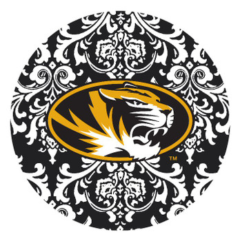 Missouri Tigers Pattern Absorbent Beverage Coasters, Set of 8
