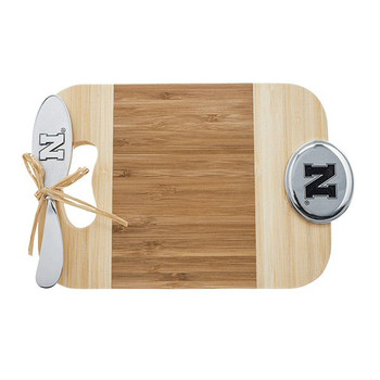 University of Nebraska Cornhuskers Bamboo Mini Serve Board & Spreader