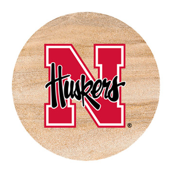 Nebraska Cornhuskers Sandstone Beverage Coasters, Set of 8