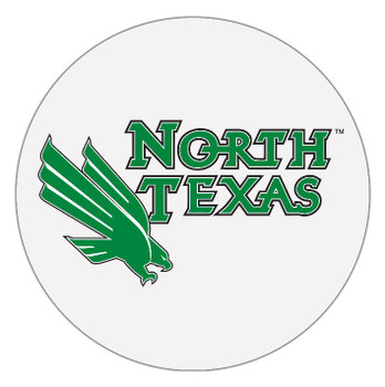 North Texas Mean Green Absorbent Beverage Coasters, Set of 8
