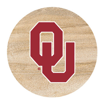 Oklahoma Sooners Sandstone Beverage Coasters, Set of 8
