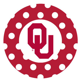 Oklahoma Sooners Dots Absorbent Beverage Coasters, Set of 8