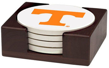Tennessee Volunteers Beverage Coasters with Holders, Set of 10
