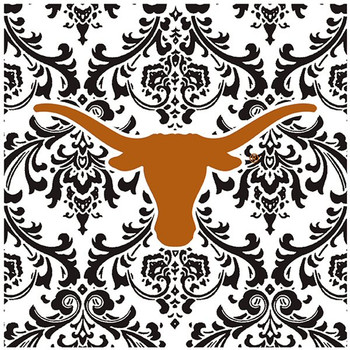 University of Texas Longhorns Pattern Ceramic Trivets, Set of 2