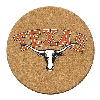 Texas Longhorns Cork Beverage Coasters, Set of 12