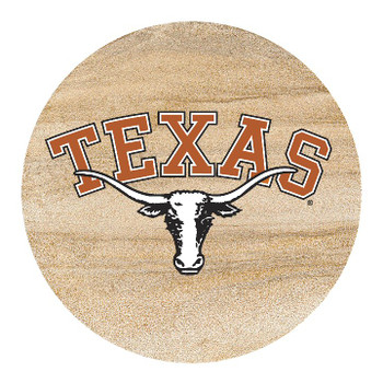 Texas Longhorns Sandstone Beverage Coasters, Set of 8