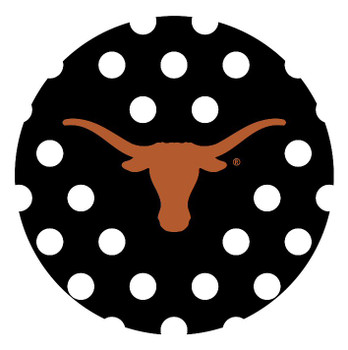 Texas Longhorns Dots Absorbent Beverage Coasters, Set of 8