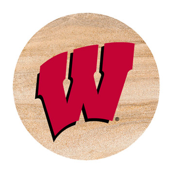 Wisconsin Badgers Sandstone Beverage Coasters, Set of 8