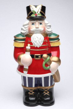 Nutcracker Porcelain Cookie Jar