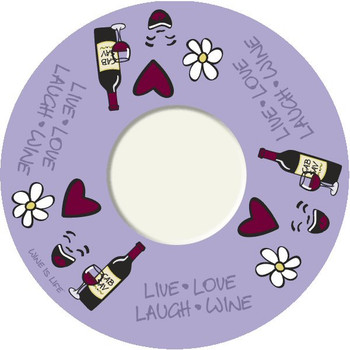 Live-Love-Laugh-Wine Wine Trivet, Set of 2