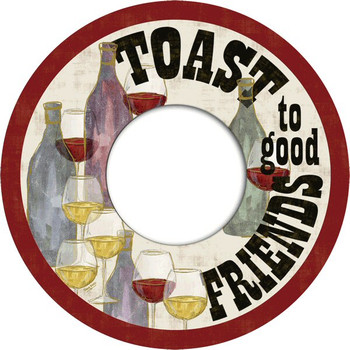 Wine Celebration Toast to Good Friends Wine Trivet, Set of 2