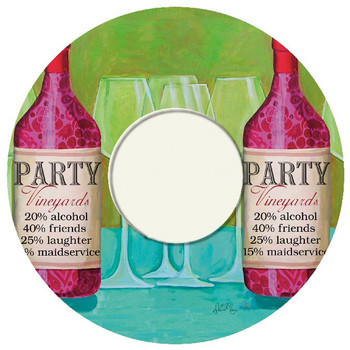 Party Vineyard Wine Trivet, Set of 2