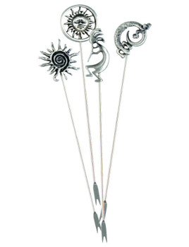 Southwest Metal Appetizer Hors d'oeuvre Pick, Set of 8