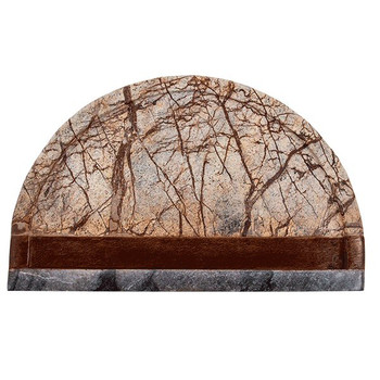 Brown Forest Marble Serving Board with Sheesham Wood Accent