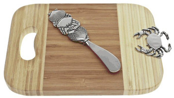 Crab Bamboo Mini Serving Board and Spreader