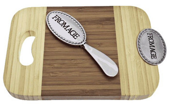 Fromage Bamboo Mini Serving Board and Spreader