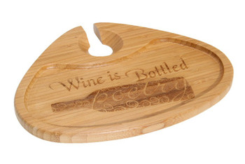 Wine is Bottled Bamboo Party Plate, Set of 2