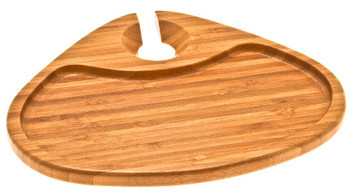 Plain Bamboo Party Plate, Set of 2