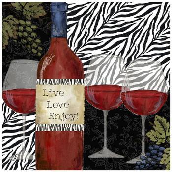Zebra Wine Ceramic Trivet, Set of 2