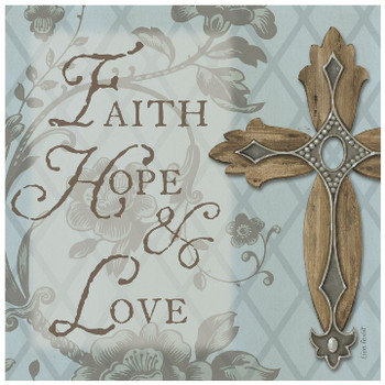 Faith, Hope, Love Ceramic Trivet, Set of 2