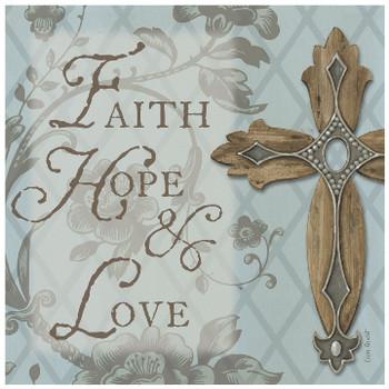 Faith, Hope, Love Ceramic Trivet, Set of 2