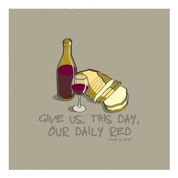 Daily Red Wine is Life Ceramic Trivet, Set of 2