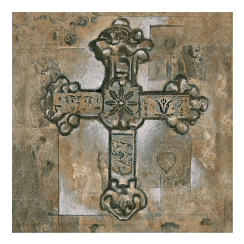 Piety II Cross Ceramic Trivet by Ashford, Set of 2