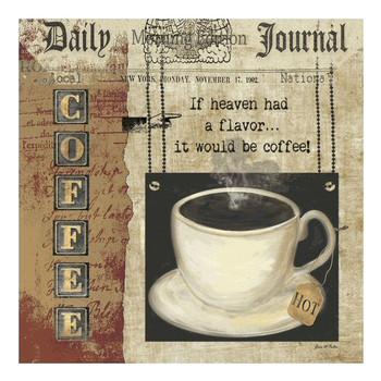 Coffee Heaven Ceramic Trivet by Grace Pullen, Set of 2