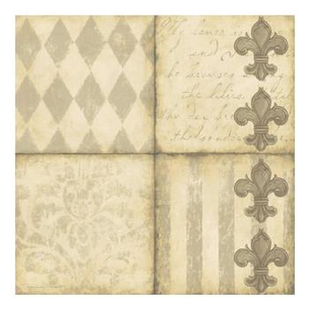 Fleur De Lis I Ceramic Trivet by Stephanie Marrott, Set of 2