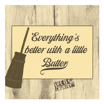 Better with a Little Butter Trivet by Life Is Country, Set of 2