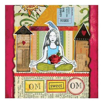 Om Sweet Om Ceramic Trivet by Tamara Holland, Set of 2