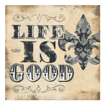 Life is Good Ceramic Trivet by Kim Lewis, Set of 2