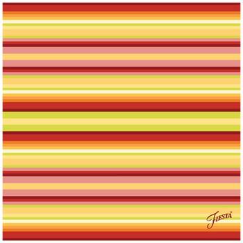 Fiesta Warm Stripe Ceramic Trivets, Set of 2