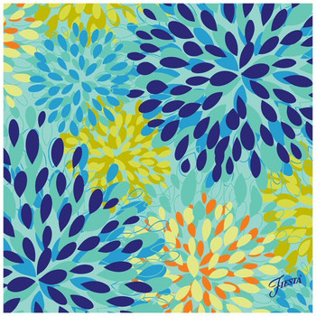 Fiesta Cool Calypso Ceramic Trivets, Set of 2