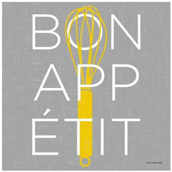 Bon Appetit Ceramic Trivets by Graphics Studios, Set of 2