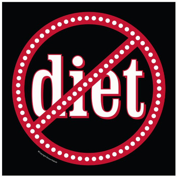 No Diets Ceramic Trivets, Set of 2