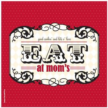 Eat at Mom's Ceramic Trivets, Set of 2