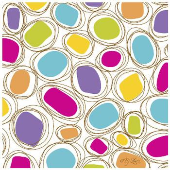 Geometric Spring Ceramic Trivet, Set of 2