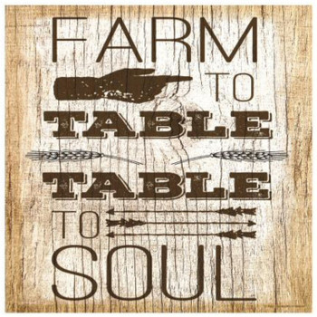 Farm To Table Table To Soul Ceramic Trivets, Set of 2