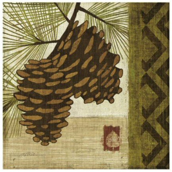 Summer Pine Cones Ceramic Trivets, Set of 2