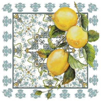 Summer Beauty Lemons Ceramic Trivets, Set of 2