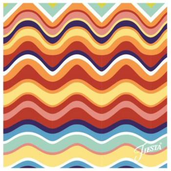 Fiesta Wavy Stripe Ceramic Trivets, Set of 2