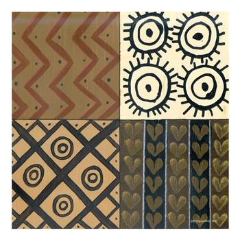 Tribal Pattern I Ceramic Trivet by D. Davis, Set of 2
