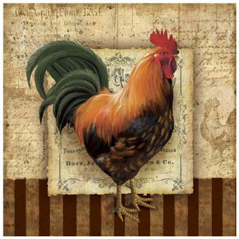 Prize Rooster I Ceramic Trivet, Set of 2