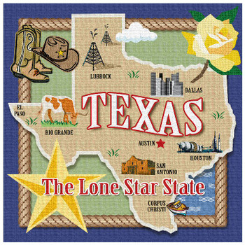 True Texas Ceramic Trivet, Set of 2