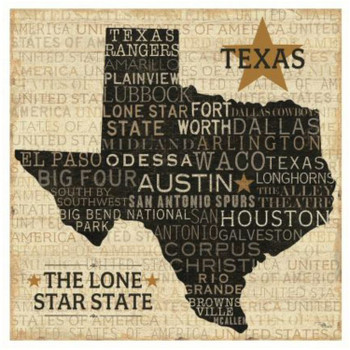 Texas Cities Typography Ceramic Trivets, Set of 2
