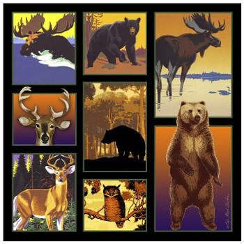 Wildlife Panel Ceramic Trivet, Set of 2