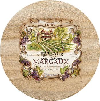 Wine Label Sandstone Trivet, Set of 2